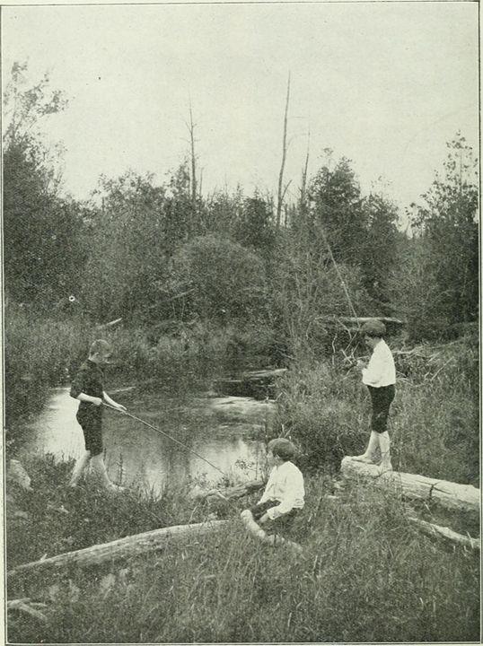 Boys Fishing - paintings