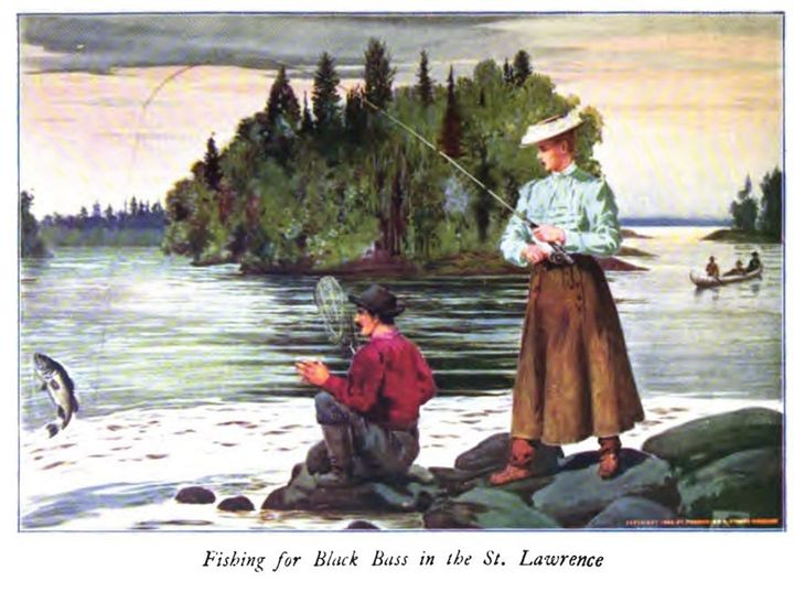 Fishing for Black Bass - paintings