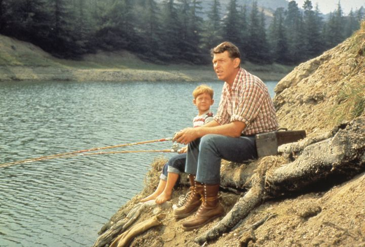 Andy Griffith and Opie - paintings