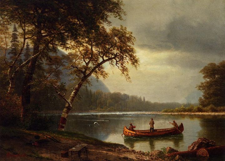 Salmon Fishing on the Cascapediac - paintings
