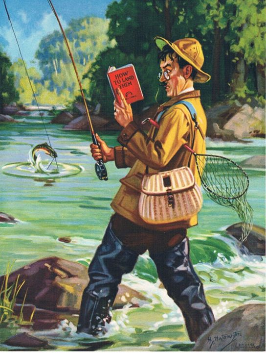 How to Fish - paintings