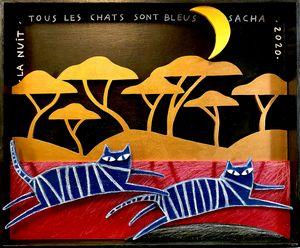 Chats dans la nuit