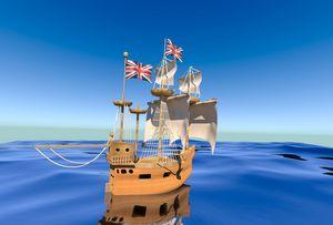 british old ship ( around 1850)