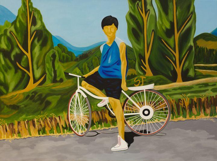 My Son and Bike - april sj choi