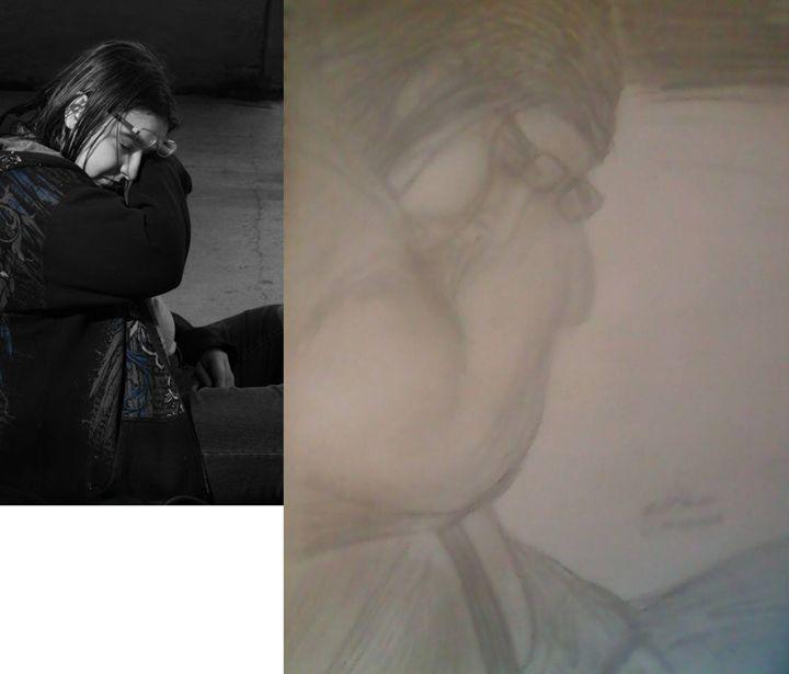 Resting woman - BlueJayArt