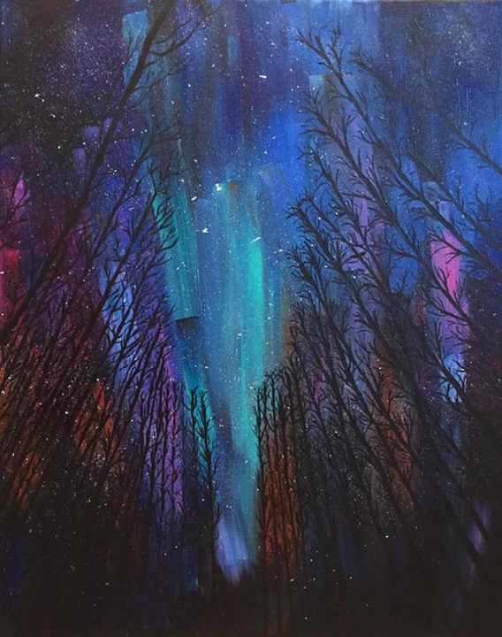 Aurora Borealis - Up and Down Art by Kim Mlyniec