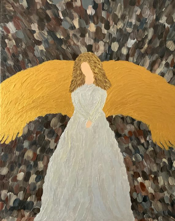 Heavenly Angel - Up and Down Art by Kim Mlyniec