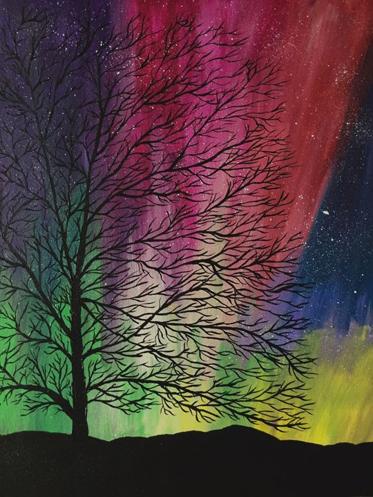 Vibrant Night - Up and Down Art by Kim Mlyniec