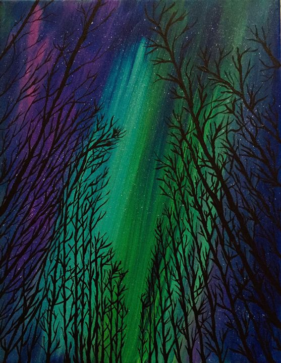 Aurora Borealis - Up and Down Art by Kim Mlyniec