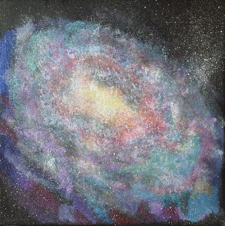 Galaxy - Up and Down Art by Kim Mlyniec