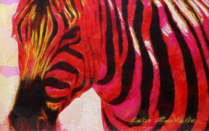 Zebra in Red - Lelia DeMello
