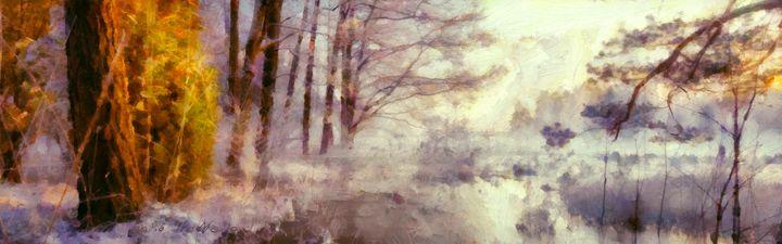 Winter Pond - Lelia DeMello