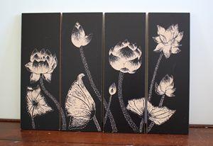 Lotus-Woodcut