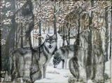 Guardian Spirit. 2 grown wolves and