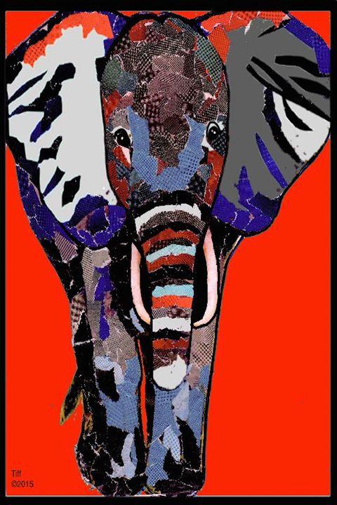 Mosaic Elephant - Divergent Creationz