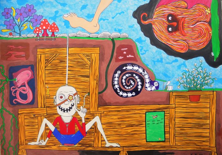 An unusual picture with unneeded det - Outsider art and stories gallery by oldbone