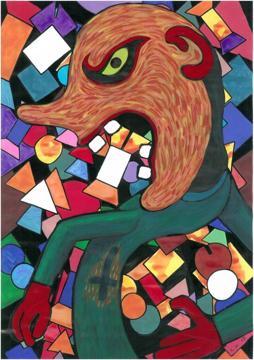 Hate and Curse, art story - Outsider art and stories gallery by oldbone