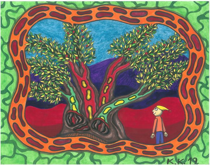 Magic tree, magic art story - Outsider art and stories gallery by oldbone