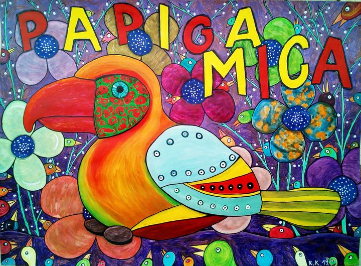 Parrot Mica tells you, fantastic art - Outsider art and stories gallery by oldbone