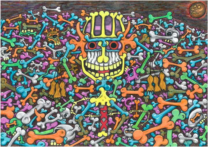 The raw passions of the Skeletons - Outsider art and stories gallery by oldbone