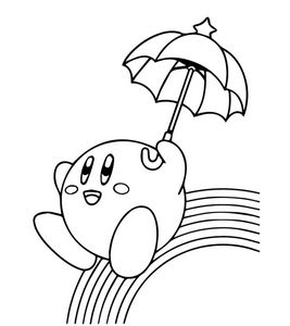 kirby colouring page.