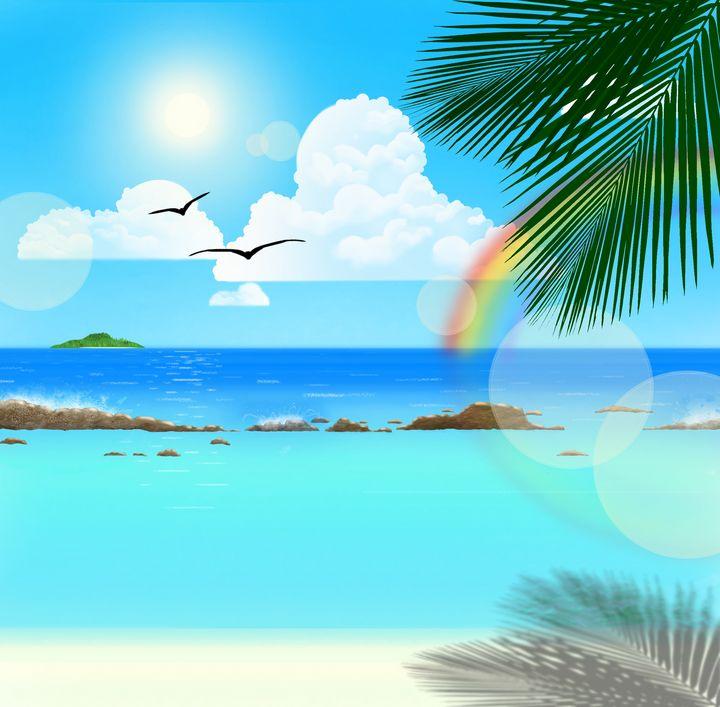 Anime Beach - Smyfoxarts