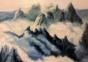 Misty Mountainscape