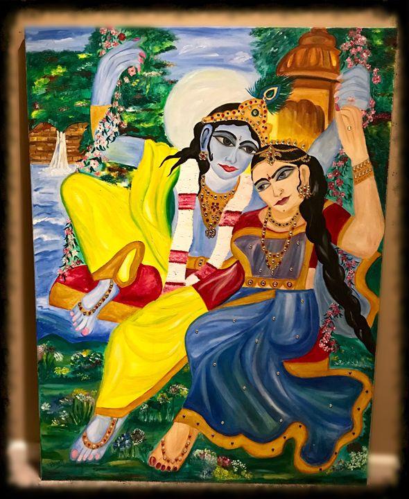 Eternal divinity Radha Krishna - Rashmi Art impressions