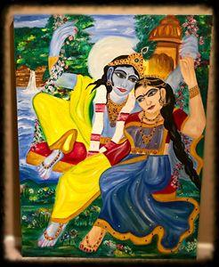 Eternal divinity Radha Krishna