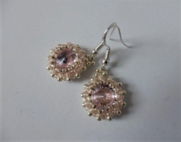 Pink and Silver earrings - EllaBijoux