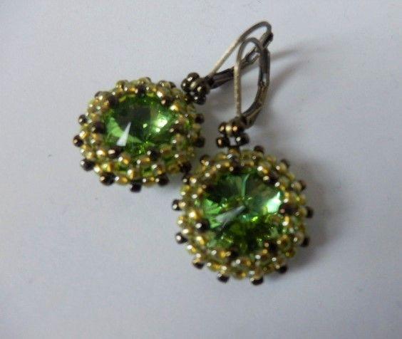 Green and chartreuse earrings - EllaBijoux
