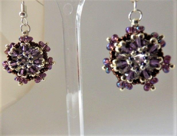 Deep purple earrings - EllaBijoux