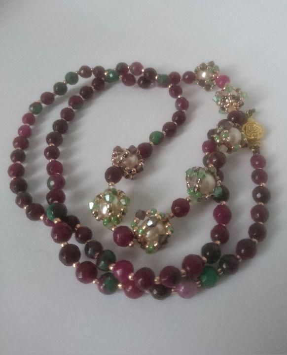 Watermelon tourmaline necklace £55 - EllaBijoux