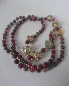 Watermelon tourmaline necklace £55