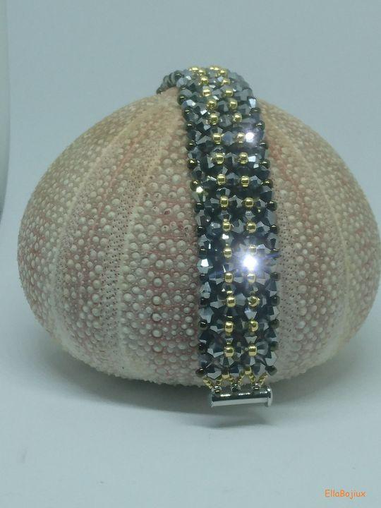 Steel, Gold and Bronze bracelet - EllaBijoux