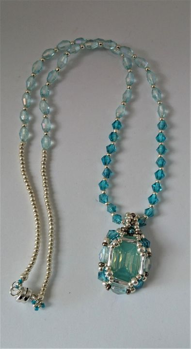 Silver and Turquoise Necklace - EllaBijoux