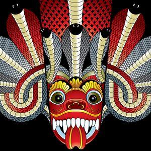 sri lanka devil dance mask