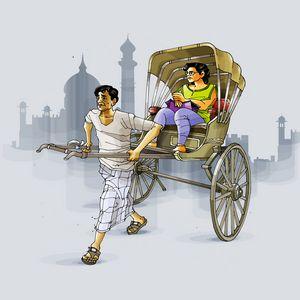 Kolkata Rickshaw Puller