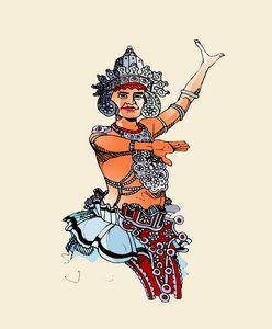 Sri Lanka kandian dancer