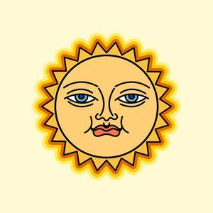 Smiled sun face