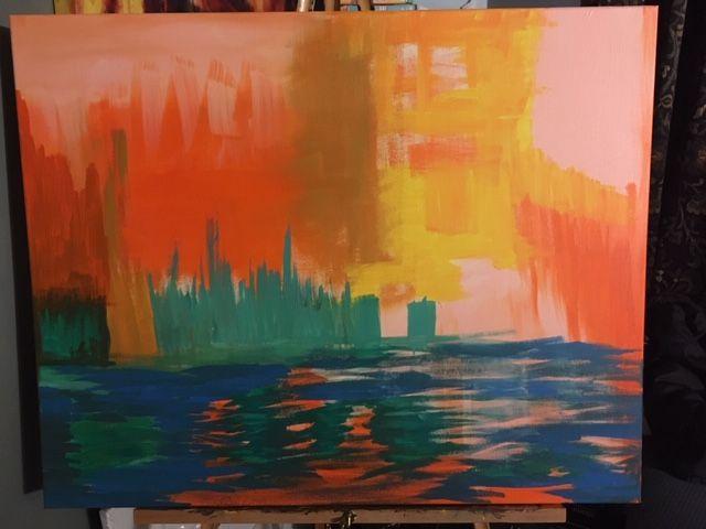 abstract city - dragonmom86