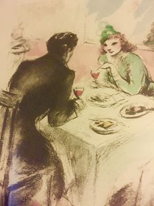 Rare 1945 Etching by Louis Icart