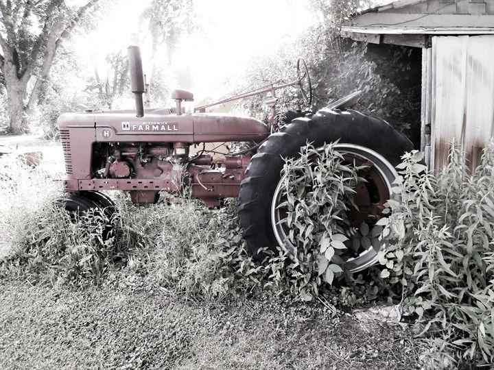Tractor abandoned - ladybugarts