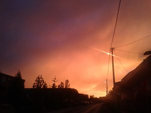 sky before storm