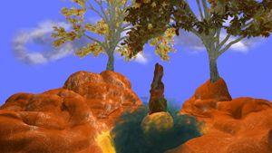 3D realistic unreal landscape