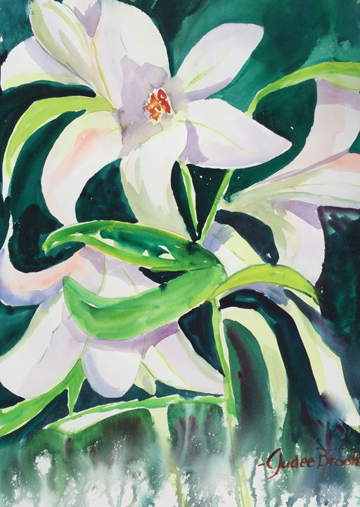 Dancing Easter Lillies - Judee Brooks