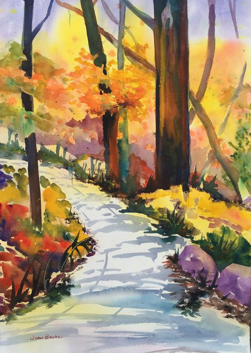 Autumn Mountain Hiking - Judee Brooks