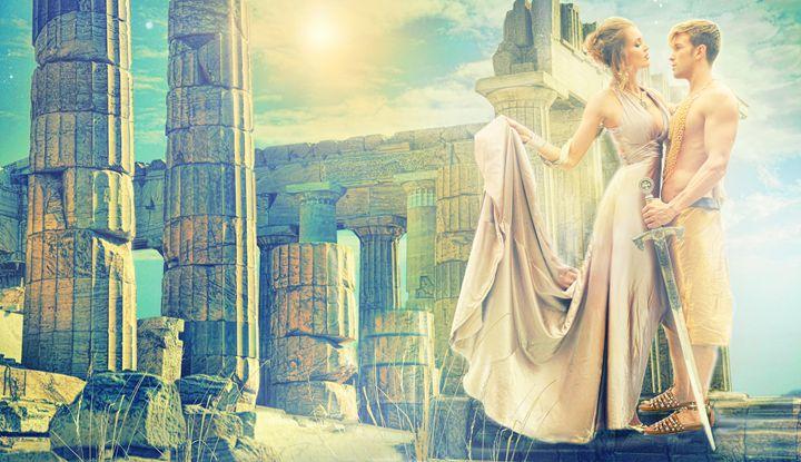 GREEK GODS athena and hercules - RJP