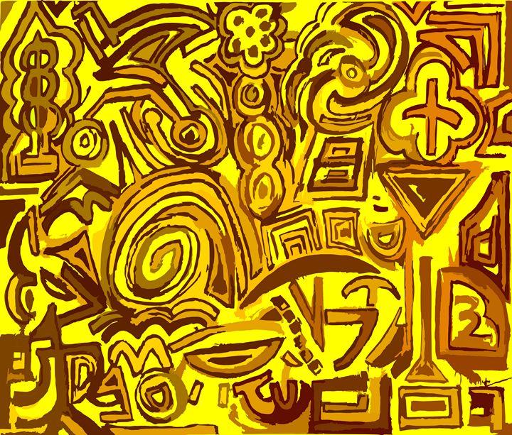 Yellow symbols - Ludo
