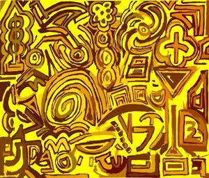 Yellow symbols